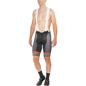 Castelli Volo Short de cyclisme Homme, black/anthracite/yellow fluo